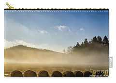 Carry-all Pouch featuring the photograph Misty Country Morning by Thomas R Fletcher