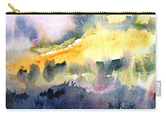 Misty Dawn Over Ploughed Field  Carry-all Pouch