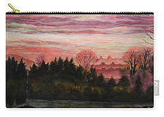 Misty Evening On Ernie Lane Carry-all Pouch
