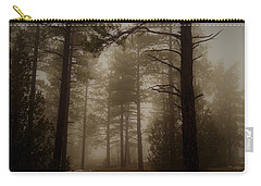Carry-all Pouch featuring the photograph Misty Forest Morning by Broderick Delaney