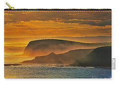 Carry-all Pouch featuring the photograph Misty Island Sunset by Blair Stuart