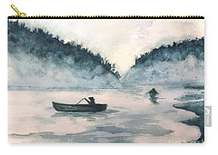 Carry-all Pouch featuring the painting Misty Lake by Lucia Grilletto