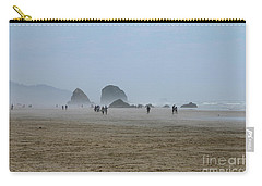 Misty Morning At Cannon Beach Carry-all Pouch by Christiane Schulze Art And Photography