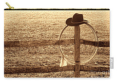 Misty Morning At The Ranch Carry-all Pouch