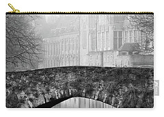 Misty Morning Canal In Bruges Carry-all Pouch