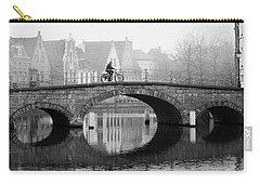 Misty Morning In Bruges  Carry-all Pouch
