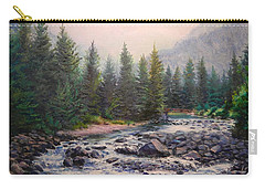 Misty Morning On East Rosebud River Carry-all Pouch
