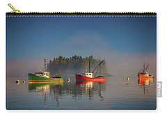 Carry-all Pouch featuring the photograph Misty Morning On Johnson Bay by Rick Berk