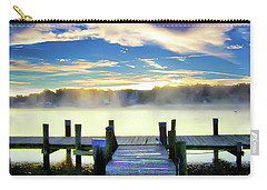 Carry-all Pouch featuring the photograph Misty Morning On Rock Creek by Brian Wallace