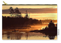 Carry-all Pouch featuring the photograph Misty Morning Paddle by Larry Ricker