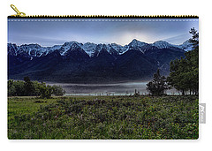 Carry-all Pouch featuring the photograph Misty Mountain Morning Meadow  by Darcy Michaelchuk