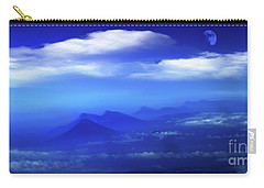 Misty Mountains Of San Salvador Panorama Carry-all Pouch by Al Bourassa