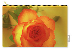 Misty Orange Rose Carry-all Pouch