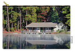 Carry-all Pouch featuring the photograph Misty Reflection At Durant by George Randy Bass