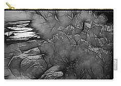 Carry-all Pouch featuring the photograph Misty River by Elaine Teague
