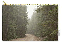 Carry-all Pouch featuring the photograph Misty Road by James BO Insogna