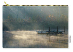 Carry-all Pouch featuring the photograph Misty Sunrise by George Randy Bass
