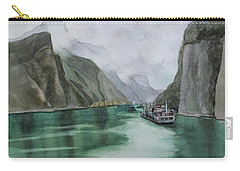 Carry-all Pouch featuring the painting Misty Voyage by Kris Parins