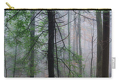 Carry-all Pouch featuring the photograph Misty Winter Forest by Thomas R Fletcher