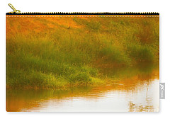 Misty Yellow Hue -lone Jacana Carry-all Pouch