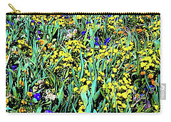 Carry-all Pouch featuring the photograph Mixed Flower Garden 515 by D Davila