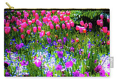 Mixed Flowers And Tulips Carry-all Pouch