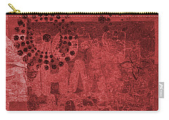 Carry-all Pouch featuring the mixed media Mixed Media Letters  by Patricia Cleasby