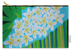 Carry-all Pouch featuring the painting Mixed Up Plumaria by Deborah Boyd