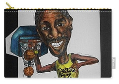 Mj Caricature Carry-all Pouch by Michelle Gilmore