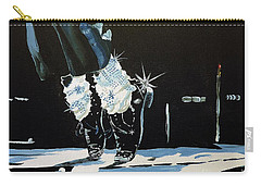 Carry-all Pouch featuring the painting Mj On His Toes by Tom Riggs
