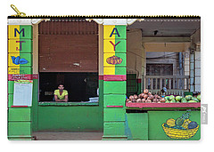 Carry-all Pouch featuring the photograph Mjay Fruit Stand Havana Cuba by Charles Harden
