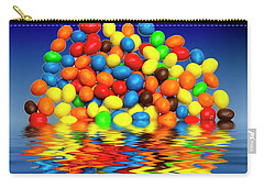 Carry-all Pouch featuring the photograph Mm Chocolate Sweets by David French