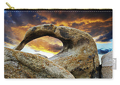 Carry-all Pouch featuring the photograph Mobious Arch California 7 by Bob Christopher