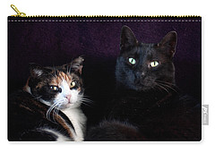 Carry-all Pouch featuring the photograph Mochi And Stinky by Laura Melis