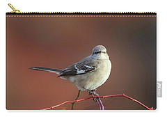 Mocking Bird Morning Square Carry-all Pouch by Bill Wakeley