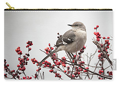 Mockingbird And Berries Carry-all Pouch