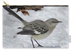Mockingbird In The Snow Carry-all Pouch