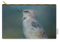 Mockingbird On A Windy Day Carry-all Pouch by Jai Johnson