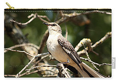 Carry-all Pouch featuring the photograph Mockingbird  by Sheila Brown