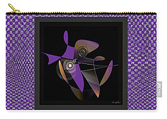 Carry-all Pouch featuring the digital art Modern 222 by Iris Gelbart