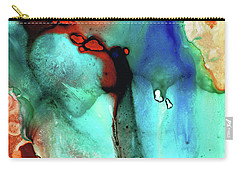 Carry-all Pouch featuring the painting Modern Abstract Art - Color Rhapsody - Sharon Cummings by Sharon Cummings
