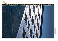 Blue Modern Apartment Building Carry-all Pouch by John Williams
