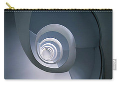 Modern Blue Spiral Staircase Carry-all Pouch by Jaroslaw Blaminsky