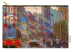 Carry-all Pouch featuring the photograph Modern City Impression by Vladimir Kholostykh