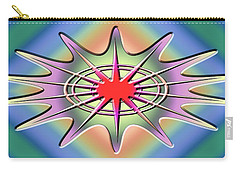 Carry-all Pouch featuring the digital art Modern Design Wide 1 by Chuck Staley