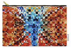Modern Dragonfly Art - Pieces 6 - Sharon Cummings Carry-all Pouch by Sharon Cummings