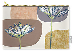 Modern Fall Floral 1- Art By Linda Woods Carry-all Pouch