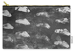 Carry-all Pouch featuring the painting Modern Fossil Grayscale by Robin Maria Pedrero