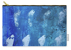Carry-all Pouch featuring the painting Modern Fossil by Robin Maria Pedrero