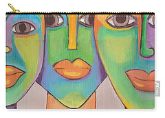 Modern Pop Art Faces Carry-all Pouch